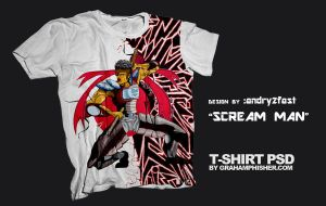 Sream Man on tee addicts by andry2fast