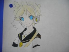 Kagamine Len (Colored) by SapphireRose-chan