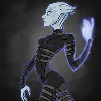 Asari Commando by benevoak