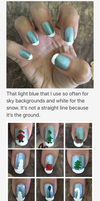 Christmas Nail Art 2016 Process by MikariStar