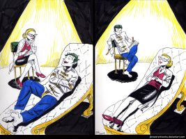 Therapy Sessions (Joker, Harley) by JBrowerArtworks