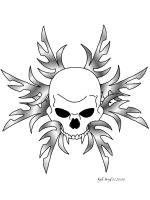 Skull Tattoo Ver. 2 by kiki-454