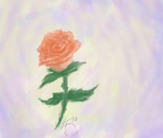 Rose Painting by RacingShadows
