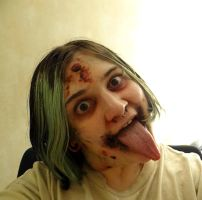 Infected psycho make up by TwoToneBone