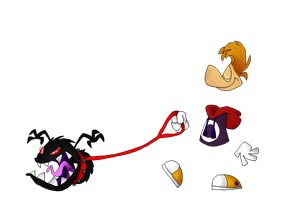 Rayman- Walking the dog by Weretoons101