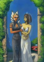 Ahsoka And Barriss Newlyweds by lordhadrian