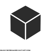 Cube Vector [Free 2 use] [DELETE THE CREDIT] by bunnyscream
