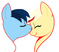 Angel' Friends : Pony Raf and Sulfus love by AylitaMelek