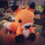 orange fox ~ for sale on Etsy by theyarnbunny