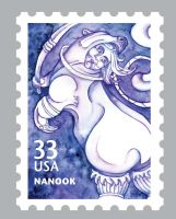 Alaskan Inuit Stamps: Nanook by Cailey5586