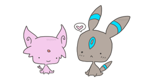 espeon and umbreon by unversed