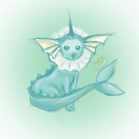 The Little Merfriend ~Vaporeon by NAD-LifeOfficial