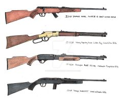 One of each .22 action by stopsigndrawer81