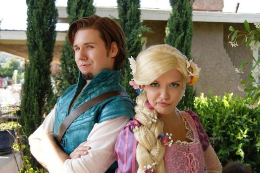 Flynn Ryder and Rapunzel by trueenchantment