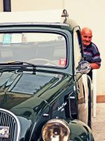 Old man with car by alessandrobianco