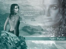 Nelly Furtado in the Sea by Cooby