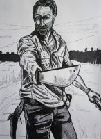 Rick Grimes from the walking dead by DustyPaintbrush