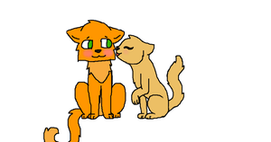Firestar and Sandstorm by Wolf-Lover-Forever64