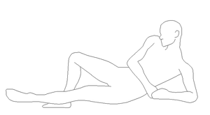 Laying Male Lineart by FreeKissForAll