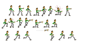 MMF2 Project - John's Delirium Player Sprites by LittleGreenGamer