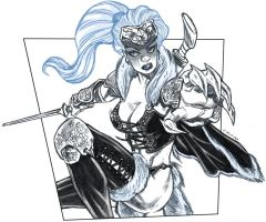 DSC - BlackCat Barbarian by dichiara