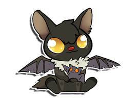 PuppyBat sticker by PorcyPinkPorcupine