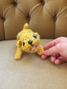 Crochet dog (Jade) by HiccToothFan