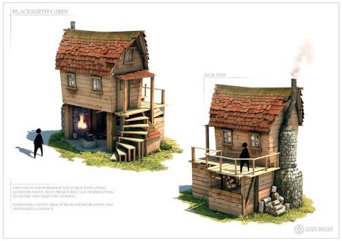 Blacksmith Cabin - Design sheet one by Capital---G