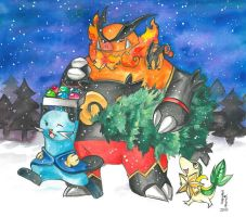 new generation at christmas by ravenoath