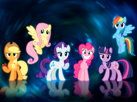 My Little Pony Mane 6 Wallpaper by BC89