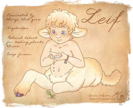 [Okhong] Draw Me a Sheep Entry - Leif by deeed