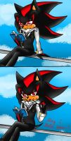 Shadow the Hedgehog: May I help you~? by TheSnowwolf700