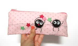 Very happy soot and stars pencil case by yael360