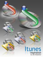 Itunes Inspiration Icons by weboso