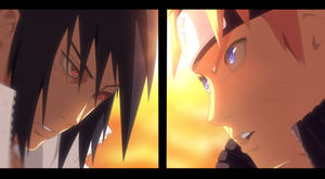 Sasuke VS Naruto by TempestDH
