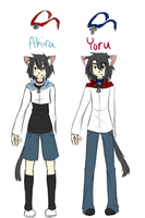 Akira and Yoru Reference by cute-uke