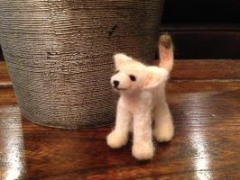 Needle Felted Fennec Fox by the-pink-dragon