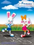 Hans And Greta Playing Hopscotch by bunnyfriend