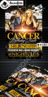 Cancer Birthday Party Flyer Template by ScorpiosGraphx