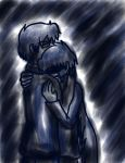 Navy Dark Embrace GerberaxCaptain by chaosphoniex