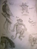 Sketchbook--Magical Creatures by LongLiveQueequeg