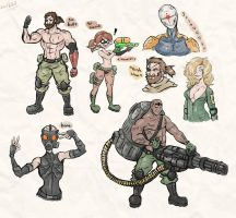 Metal Gear Solid Sketches by DullVivid