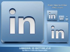 LinkedIn 3D Button v1.0 by Ragnarokkr79