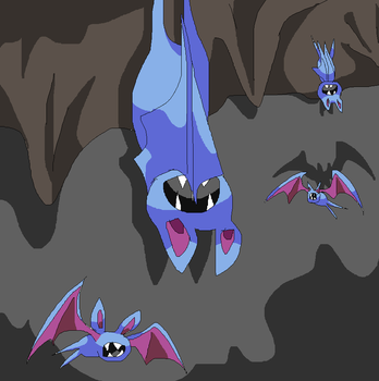 Zhibs in cave by Elfcoach