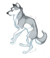 Mr. Floating Wolf by sketchinthoughts