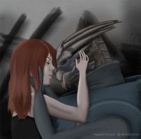 Femshep x Garrus: After the Battle by Megami-no-Yomi