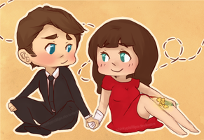 sketch: pushing daisies by ChinkyPhilllipa