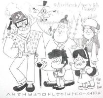 Gravity Falls : Riddle of Gravity Family by komi114