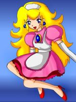 Princess Peach  anime stye 4 by SigurdHosenfeld