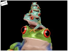 Frogs by pixellorac